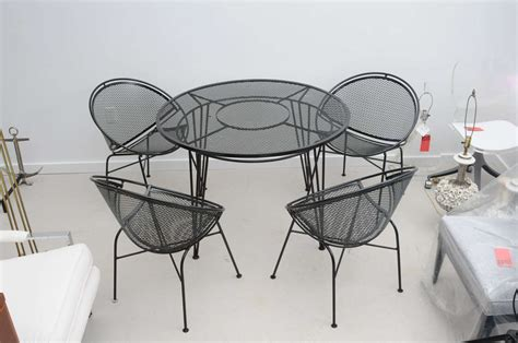 Vintage Wrought Iron Patio Furniture Sets by Vintage Salterini Wrought Iron Patio Set Image 2