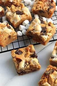 Double Decker S'mores Blondies - Baker by Nature