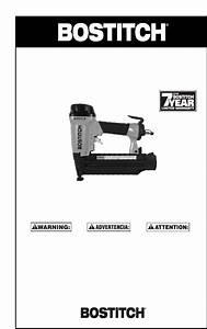 Bostitch Nail Gun 166066reve User Guide