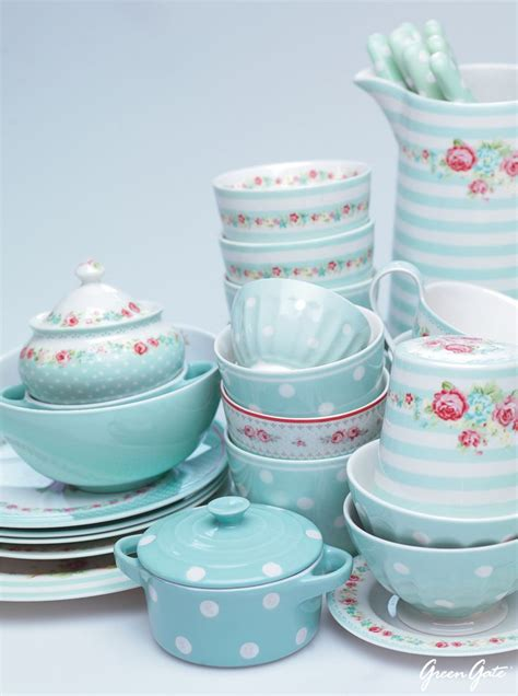 shabby chic crockery mint teapots cups and other crockery for the house colour inspiration mint pinterest