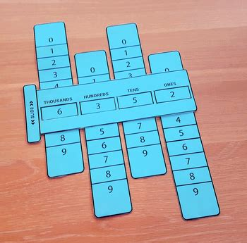 place  sliders math learning aid