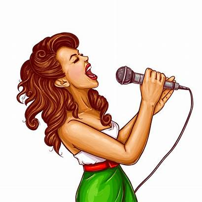 Singing Woman Clipart Searchpng Excited