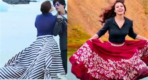 actress in long song kajol in long skirts in gerua song from dilwale curvy