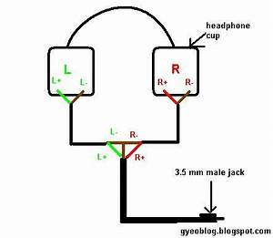 how to modify a 2 sided wire headphone to 1 sided wire With phonejackwiring1