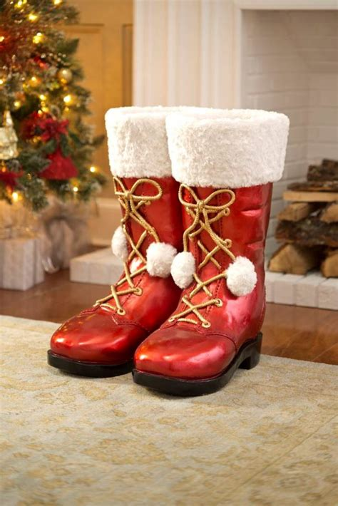 top  decoration ideas  santa boots christmas