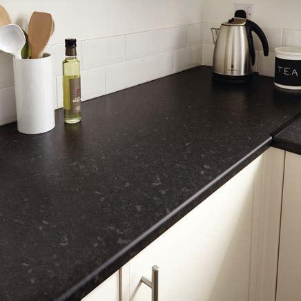 black granite effect worktop mm kitchen worktops
