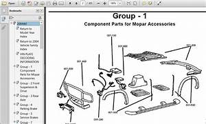 Jeep Grand Cherokee 2004 Wj Parts Catalog Manual