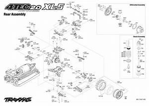 Exploded View  Traxxas 4-tec 2 0 Xl-5