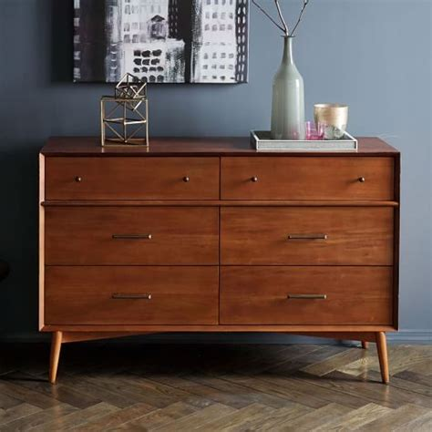 west elm dresser mid century 6 drawer dresser acorn west elm