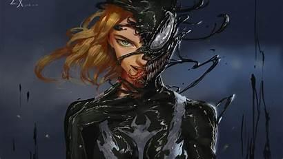 Venom Woman Gwenom Marvel Lady Villain Artwork