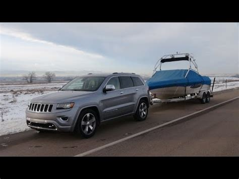 jeep grand cherokee ecodiesel   mph towing review