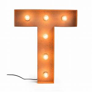 Letter T with Light Bulb - Reallynicethings