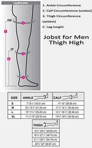 Jobst Thigh High Compression Size Chart Jobst For Men Thigh High 30 40 Dme Direct