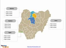 Free Nigeria Editable Map Free PowerPoint Templates