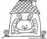 Coloring Pages Rabbit Rabbits Bunny Treehut sketch template