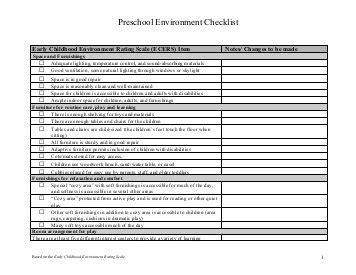 preschool observation packet checklist preschooler 794 | preschool environment checklist