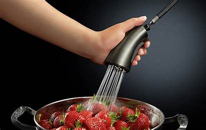 Cinemagraph Cinemagraphs Kitchen Faucet Slate Fruits Strawberry