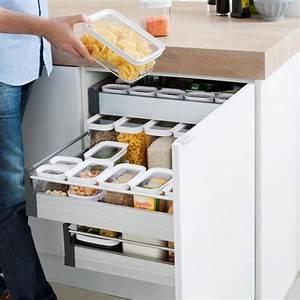 des boites alimentaires pour tiroir et placard on range With boite de rangement cuisine
