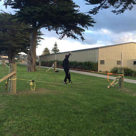 Backyard Slackline Without Trees by Slackline Shop Nz
