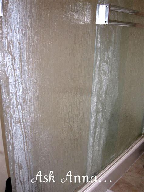 clean shower door soap scum