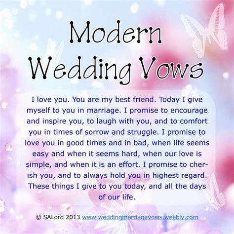 modern wedding marriage vows sle vow exles vows