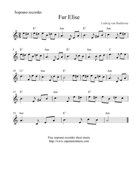 To make a good clean sound on your recorder, you need to practice tonguing. Fur Elise, free soprano recorder sheet music notes #musicnotes in 2020 (With images) | Clarinet ...