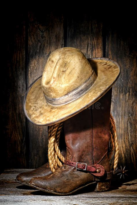 american west rodeo cowboy hat  western boots stock