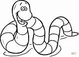 Inchworm Coloring Inch Worm Pages Cartoon Getcolorings Printable Drawing sketch template