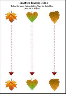 fall trace  worksheet  kids crafts  worksheets  preschooltoddler  kindergarten
