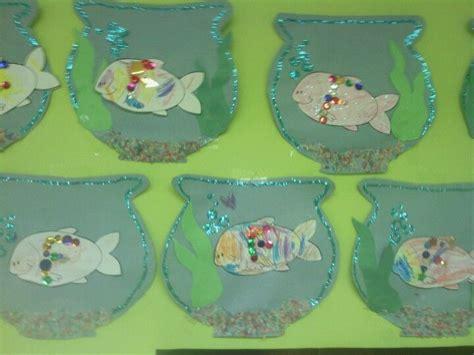 Letter F Craft Fish Bowl Craft Glitter Scale F Colored