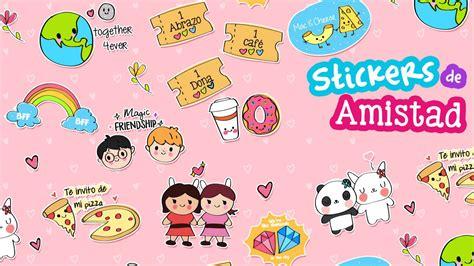 Lindos Stickers descargables de amistad Decorar cartas