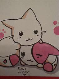 cute anime animal drawings