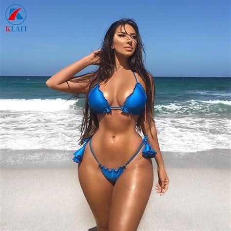 china  stylish mature women blue ruffled sexy brazilian