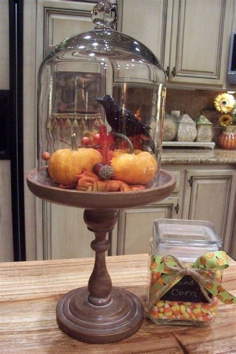 thanksgiving glass dome decor special halloween cloche