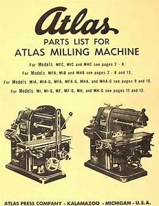 Atlas Horizontal Milling Machine Instructions  U0026 Parts