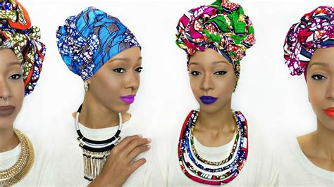 hair style with scarf wrap tutorial 5 different ankara styles