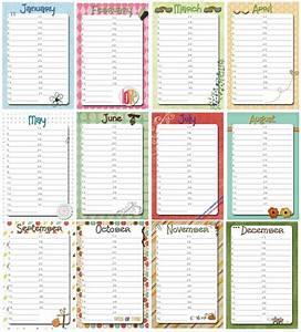 family birthday calendar printable free perpetual With family birthday calendar template
