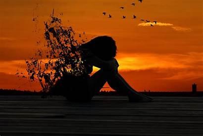 Alone Sunset Wallpapers Sad Sitting Rose