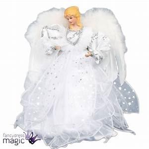 Ange De Noel Pour Cime De Sapin : 30cm no l pour sommet sapin ange argent blanc f e d coration ailes ebay ~ Teatrodelosmanantiales.com Idées de Décoration