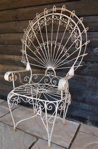 antique large wirework peacock chair my has two