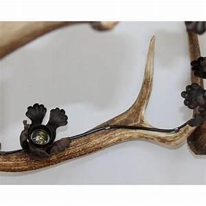 Lustre Bois De Cerf : lustre cornes de cerf 5 lumi res sur moinat sa antiquit s d coration ~ Teatrodelosmanantiales.com Idées de Décoration