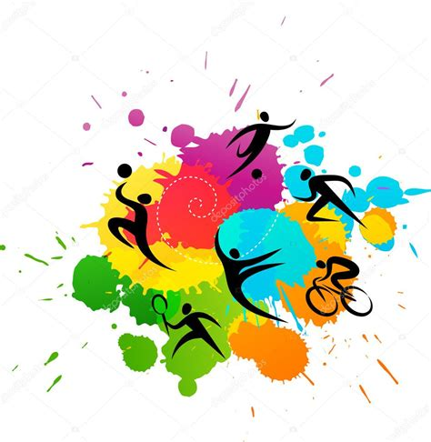 Sports Background Designs by Sport Background Colorful Vector Illustration Stock