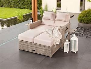 Lounge Liege Garten : rattan klapp sofa bett klappbett klappsofa gartenliege liege gartenbett bahia ebay ~ Watch28wear.com Haus und Dekorationen