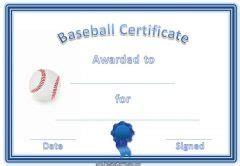 editable baseball certificates customize