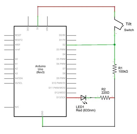 Tilt Switch Arduino Schematics Theorycircuit