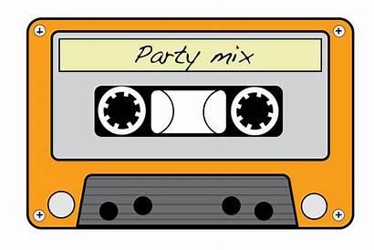 Cassette Tape Clipart Neon Tapes 80s Clip