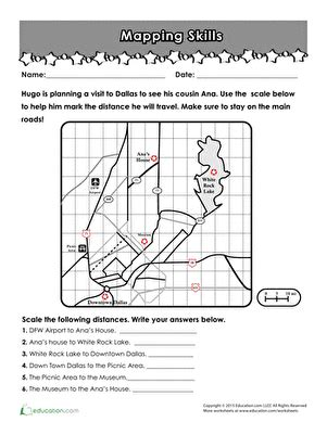 Map It! Scale Skills  Worksheet Educationcom