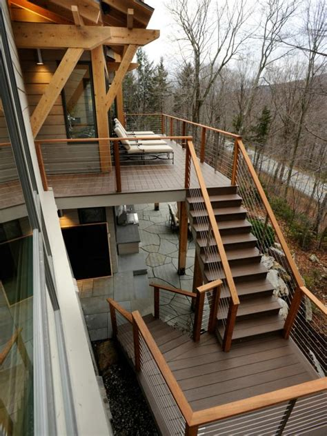 contemporary  story deck  rustic charm  diy