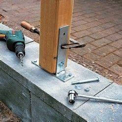 Comment Fixer Un Poteau Bois Au Sol : sceller des poteaux de bois poteau mur et bricolage ~ Dailycaller-alerts.com Idées de Décoration
