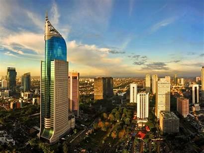 Indonesia Cities Jakarta Cityscapes Skyline Allwallpaper Standard